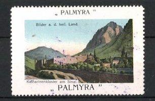 Reklamemarke Serie: Bilder aus dem heiligen Land, Katharinenkloster am Sinai