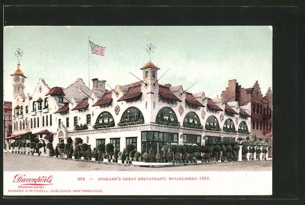 AK Spokane, WA, Spokane's Great Restaurant, Established 1889