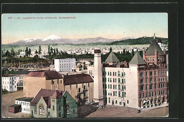 AK Spokane, WA, Mt. Carleton from Spokane