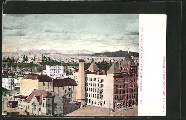 AK Spokane, WA, Mount Carleton from Spokane