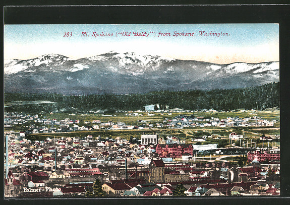 AK Spokane, WA, Mt. Spokane from Spokane