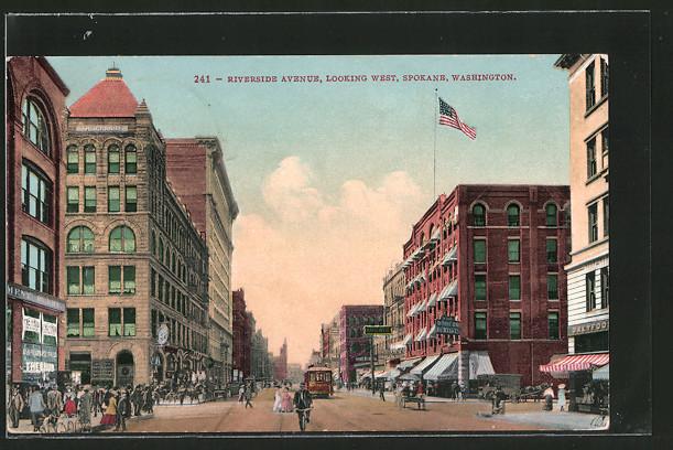 AK Spokane, WA, Riverside Avenue, looking west