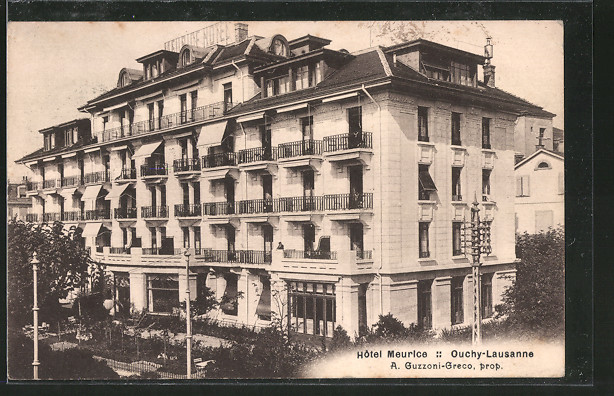 AK Ouchy-Lausanne, Hotel Meurice, Prop. A. Guzzoni-Greco