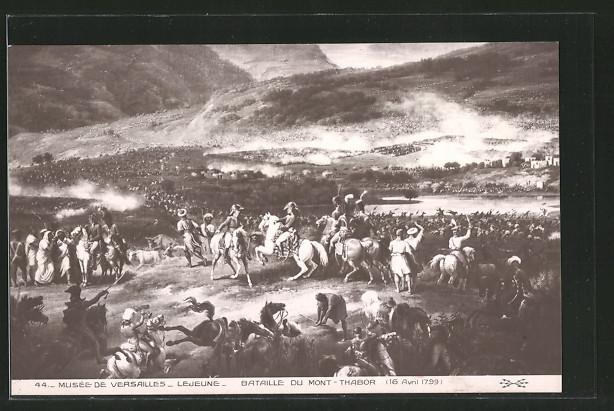 AK bataille du mont-Thabor 1799, Schlachtfeld während der Befreiungskriege
