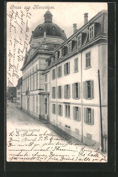 AK Menzingen, Töchter-Institut, Aussenansicht