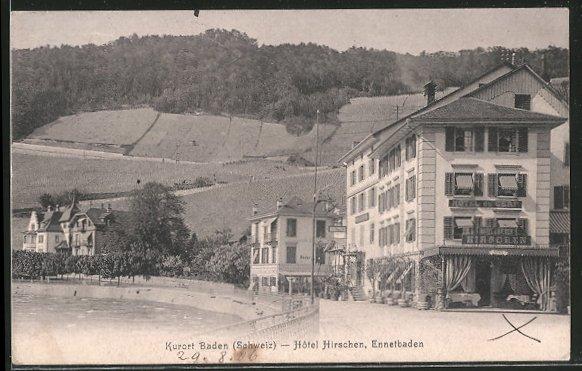 AK Baden, Hôtel Hirschen mit dem Ennetbaden