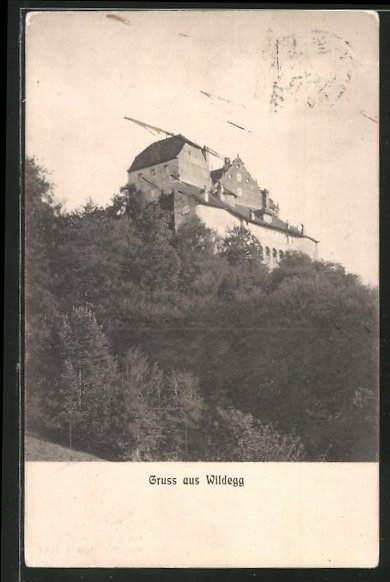 AK Wildegg, Blick zum Schloss hinauf
