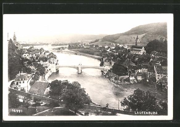 AK Laufenburg, Blick über den Ort und Rhein
