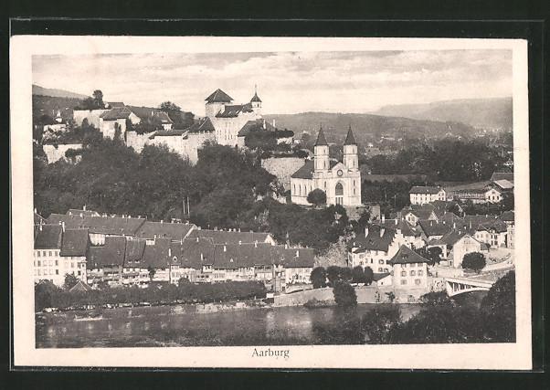 AK Aarburg, Ortsansicht mit Festung