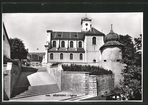 AK Delémont, L'Eglise mit Treppen