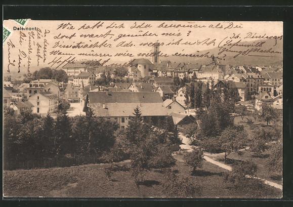 AK Delémont, Panorama von oben