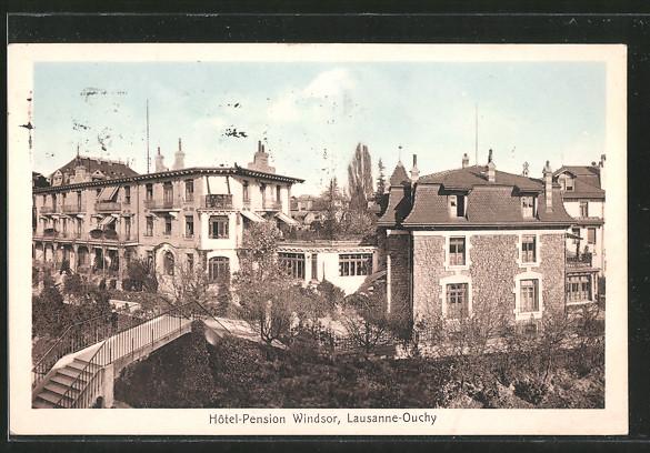 AK Lausanne, l'hôtel pension Windsor à Ouchy