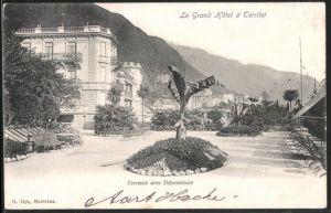 AK Territet, Le Grand Hotel, Terrasse avec Dependance