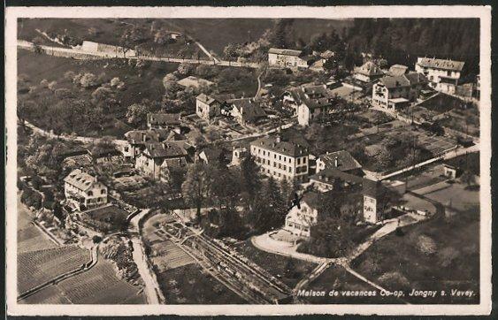 AK Jongny-sur-Vevey, maison de vacances Co-op, vue d'ensemble aérienne