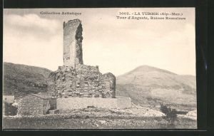 AK La-Turbie, tour d'Auguste, ruines romaines
