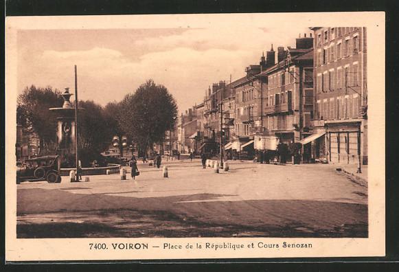 AK Voiron, place de la République et Cours Senozan