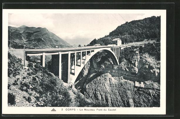 AK Corps, le nouveau pont du Sautet
