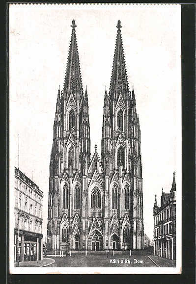 AK Köln, Der Kölner Dom, Blick von Westen auf den Dom