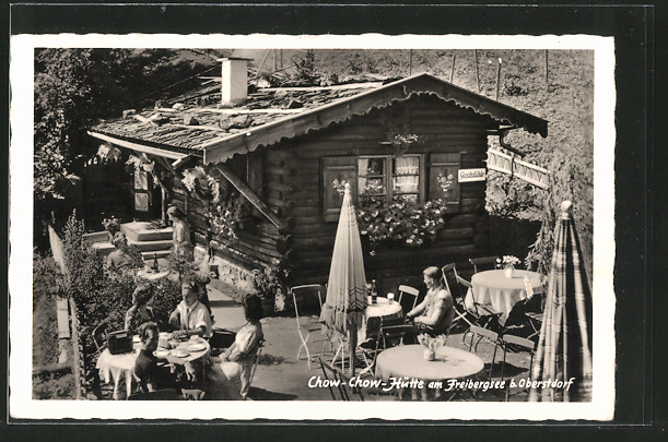 ak oberstdorf gasthaus chow chow h tte am freibergsee nr 5699442 oldthing ansichtskarten. Black Bedroom Furniture Sets. Home Design Ideas
