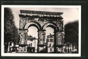 AK Saintes, L'Arc de Triomphe, Ansicht des Denkmals