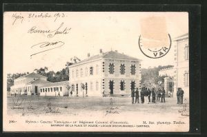 AK Hyères, Caserne Cassoigne, 22e Régiment Colonial d\'Infanterie, Batiment de la place et police