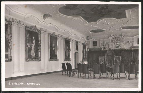 AK Einsiedeln, Blick in den Fürstensaal