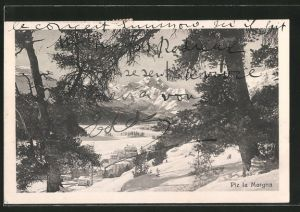 AK Piz la Margna, Blick zum Berg im Winter