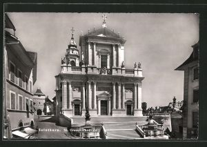 AK Solothurn, St. Ursenkathedrale mit Geschäft Merkur