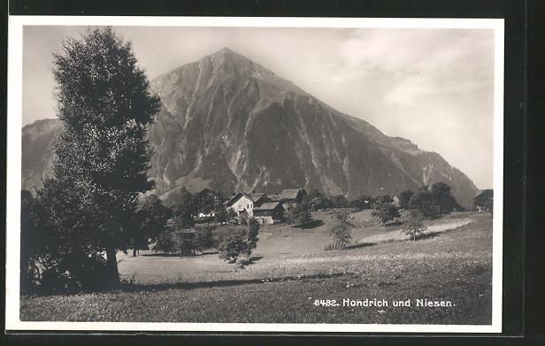 AK Hondrich, Ortsansicht mit dem Niesen