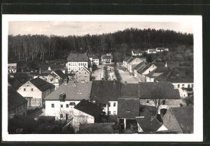 AK Stráz pod Ralskem, Platzansicht vom Dach eines Hauses