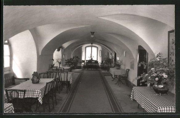 AK Bad Ragaz, Hotel Bad Pfäfers in der Taminaschlucht, Innenansicht