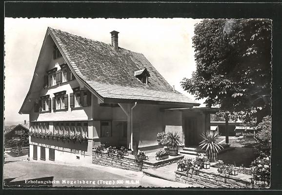AK Mogelsberg, Erholungsheim, Eingang zur Terrasse