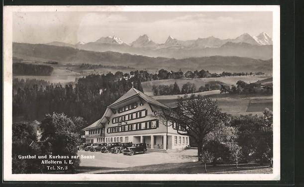 AK Affoltern, Gasthof und Kurhaus zur Sonne