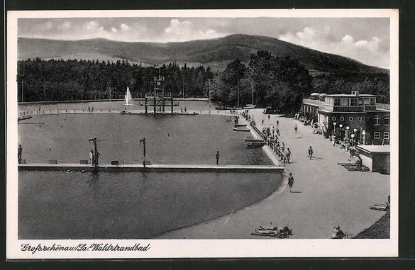AK Grossschönau, Badegäste im Waldstrandbad