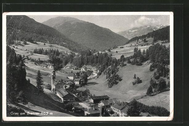 AK Gries am Brenner, Ortsansicht von oben