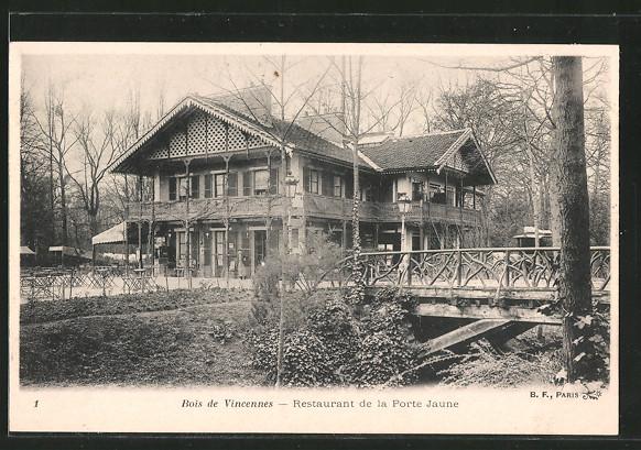 AK Porte Jaune, le restaurant Nr 6371582 oldthing Ansichtskarten Europa Belgien Frankreich  # Restaurant Bois De Vincennes
