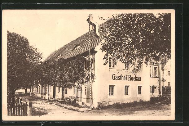 AK Dresden-Rockau, Gasthaus Lindenschänke, Rockauer Ring 19 Nr ...