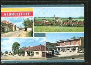AK Albrechtice, Strassenpartien, Gebäudeansicht, Blick zum Ort