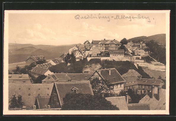 AK Quedlinburg, Blick auf den Münzberg