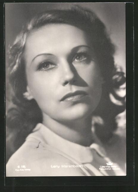AK Schauspielerin Leny Marenbach im Halbprofil