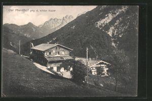 AK Ebbs, Alpengasthof Pfandlhof gegen den wilden Kaiser