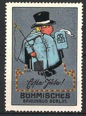 Künstler-Reklamemarke Georg Räder, Böhmisches Brauhaus Berlin,