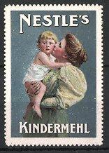 Reklamemarke Nestle's Kindermehl, Mutter mit Kleinkind