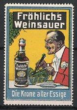 Reklamemarke Fröhlich's