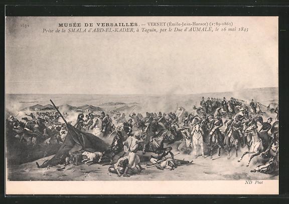 AK Prise de la Smala d'Abd-el-Kader, à Taguin, par le Duc d'Aumale, Befreiungskriege