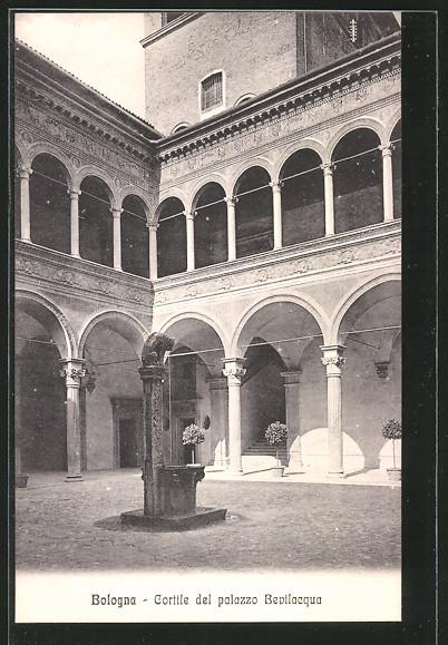 Ak bologna palazzo bevilacqua nr 6388415 oldthing for Sauna del cortile chiavi