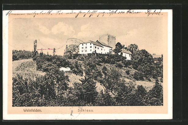AK Weinfelden, Blick zum Schloss