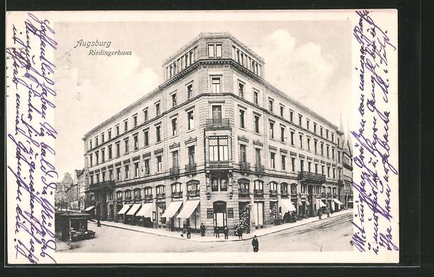 AK Augsburg, Riedingerhaus in der Obstmarkt-Strasse 0