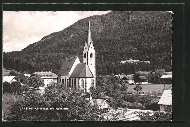 AK Laas, Ansicht mit Heilstätte