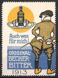 Reklamemarke Original Becher-Bitter,
